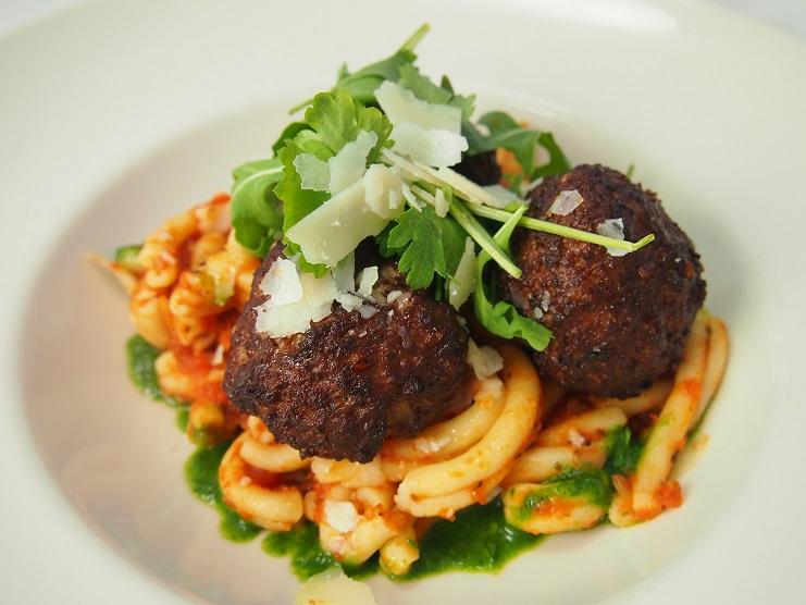 Italians meatballs created by FareStart catering in Seattle