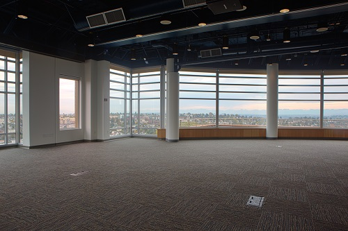 Panoramic Room event venue open floor plan and view of Seattle